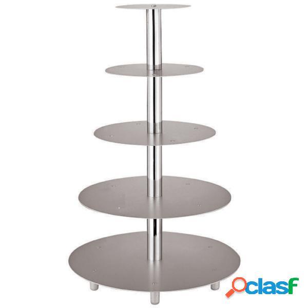Alzata per torte 4 piani alluminio peso 189 kg 🥇   Posot Class