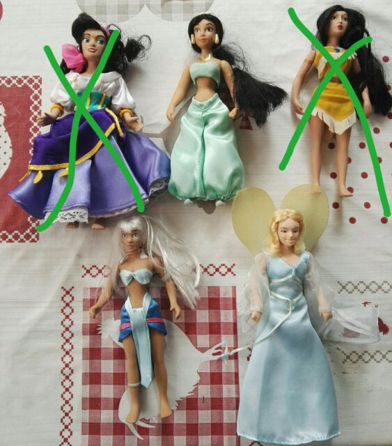 Pocahontas Barbie Ken Mattel personaggi Disney collezione vintage Jasmin