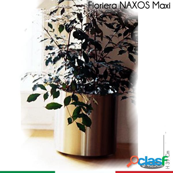 Fioriera Naxos MAXI diametro 40,5xh39 cm - L 49 in Acciaio