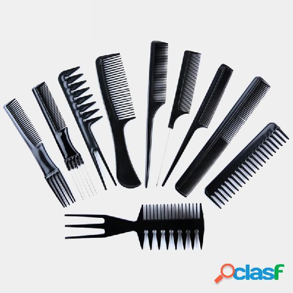 10 pz / set professionale Capelli Pennello pettine barbiere