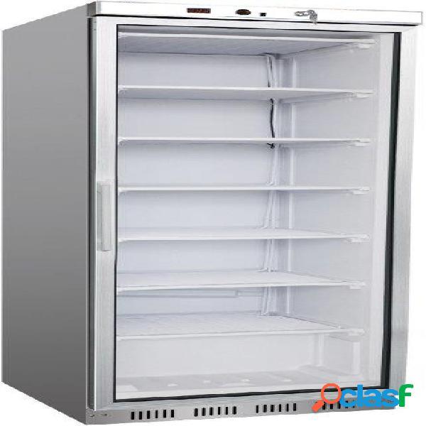 Armadio refrigerato positivo statico con porta a vetro,