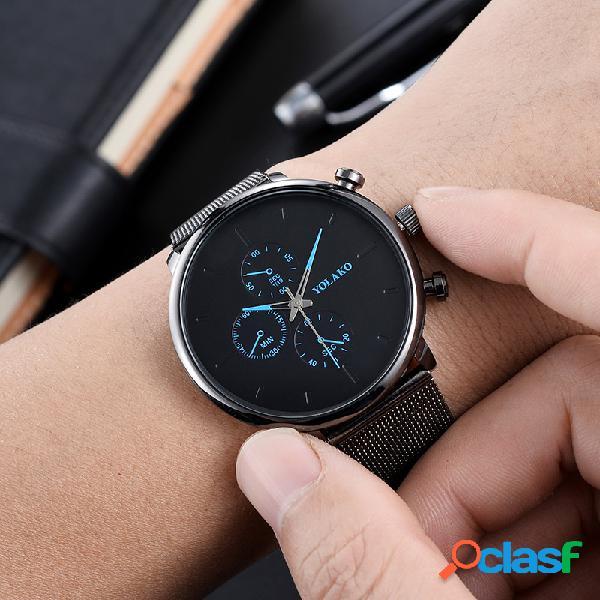 Moda Sport Orologi da uomo Orologi al quarzo cronografo con