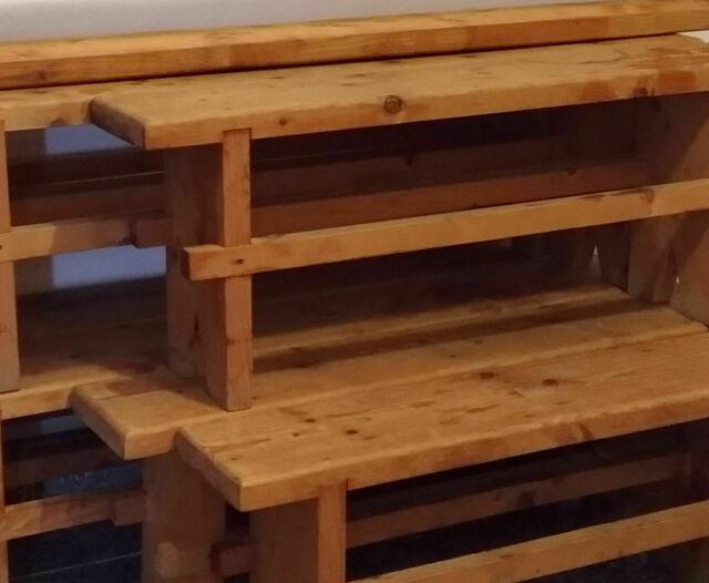 panche in legno massello artigianale