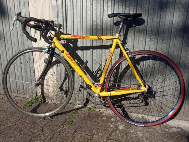 """Bici da corsa """" altec """" alluminio gialla"""