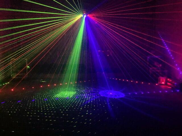 Effetto LASER Show System 100w RGB 4 Punti di Emissione