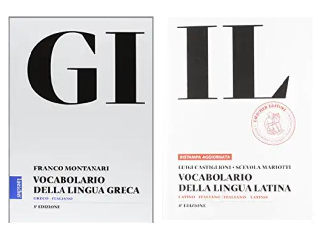 Vendo come nuovi GI Vocabolario greco + Vocabolario latina