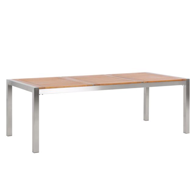 BELIANI Tavolo da giardino in legno di eucalipto 220x100cm