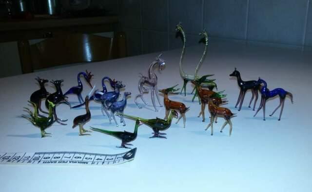 Collezione animaletti in vetro soffiato di Murano