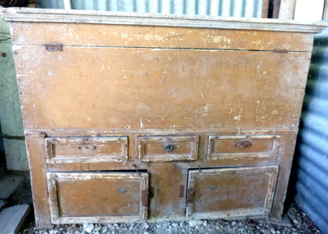 Madia in legno antica da restaurare