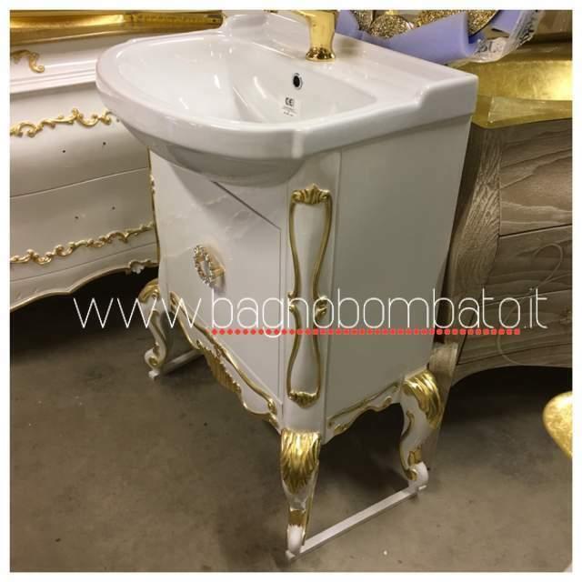 Mobile da bagno stile barocco con Swarovski 70cm