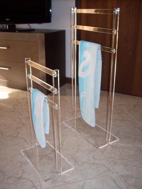 Piantane porta asciugamani in plexiglas NUOVE