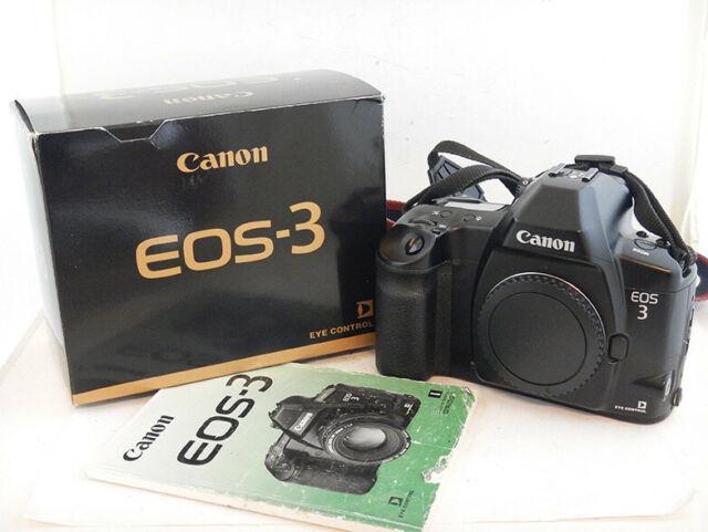 Canon EOS 3 35mm SLR Film Camera + Scatola in Ottime