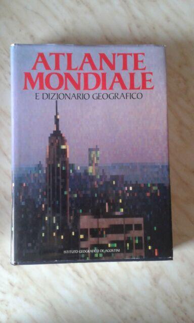 Atlante Mondiale e Dizionario geografico De Agostini