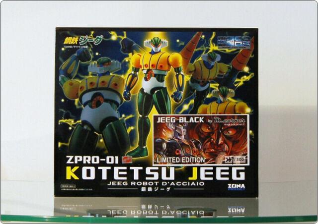 HL pro ZPRO-01 Kotetsu Jeeg Robot - LIMITED Ed. BLACK -