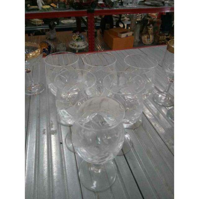 Bicchieri pz. 6 cristallo coppe