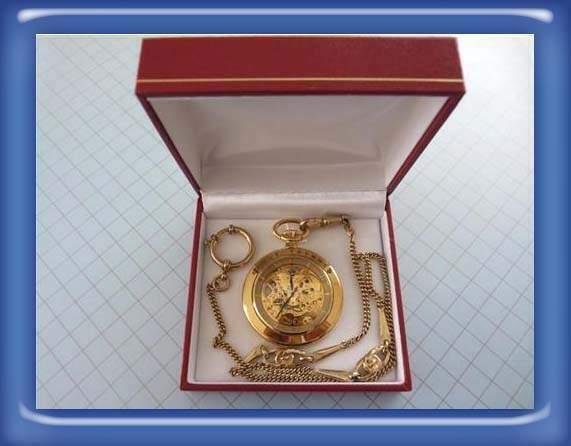 Orologio da tasca scheletrato revue thommen laminato oro