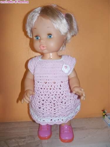 Vestito bambola uncinetto