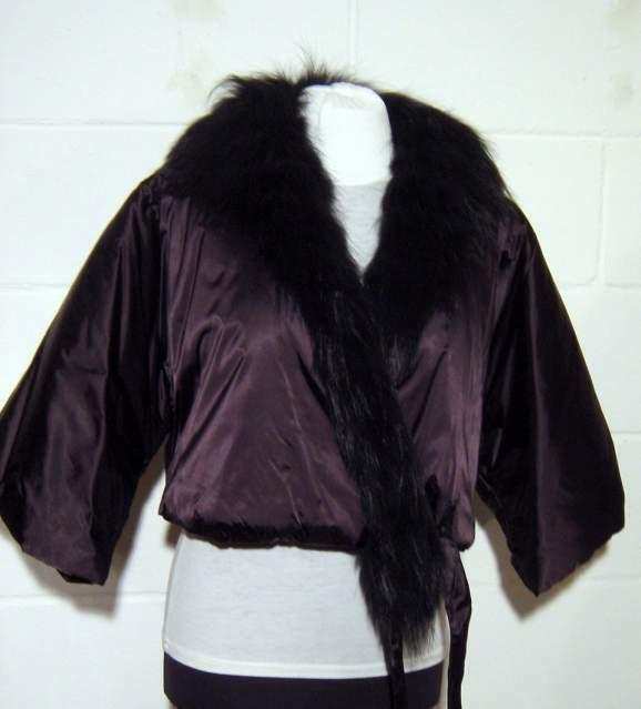 Giacchino casacca di Persona, collo Pelliccia