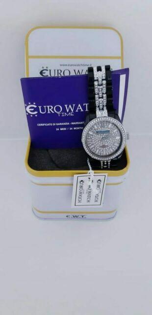 Orologio donna nero in policarbonato con strass EUROWATCH