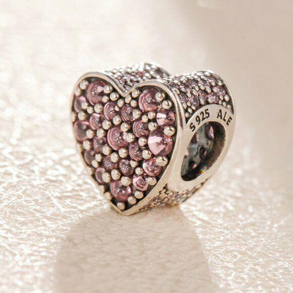 Pandora Charm pcz Cuore scintillante rosa