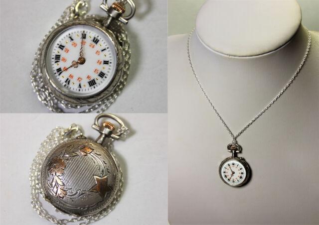Splendido Orologio per signora in argento e oro fine