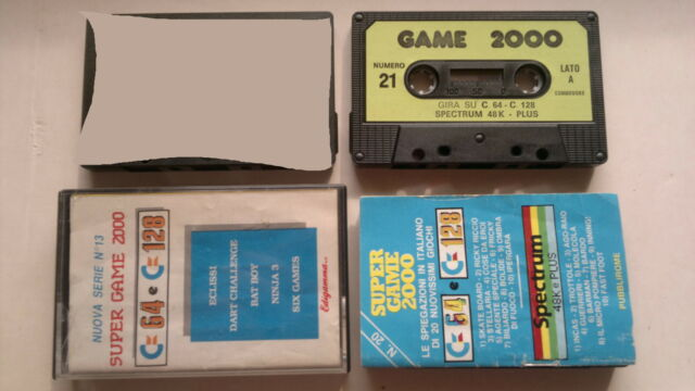 COMMODORE 64 SPECTRUM giochi Cassette edicola