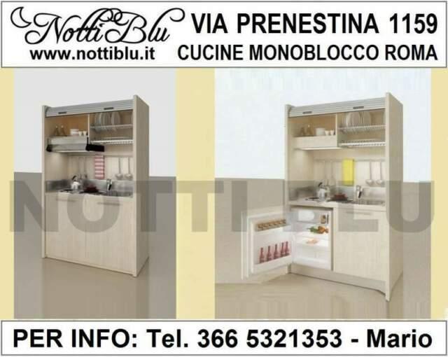 Cucina monoblocco a Scomparsa VE392 Mini Cucina L=  cm