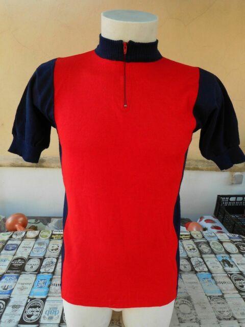 Maglia ciclismo anni 70 rosso blu 4 vintage
