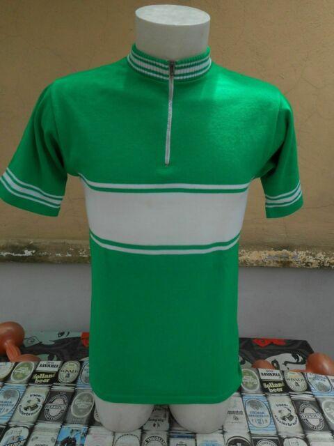 Maglia ciclismo anni 70 verde bianca vintage
