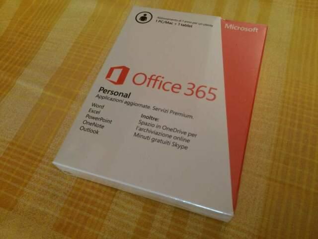Abbonamento 1 anno Microsoft Office 365 Personal