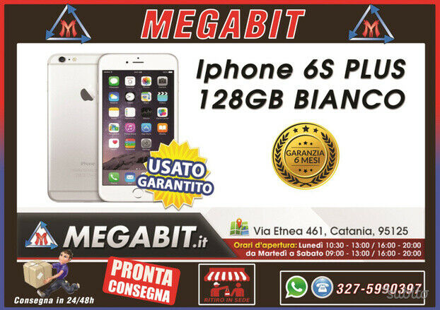 Iphone 6s plus 128gb bianco con garanzia