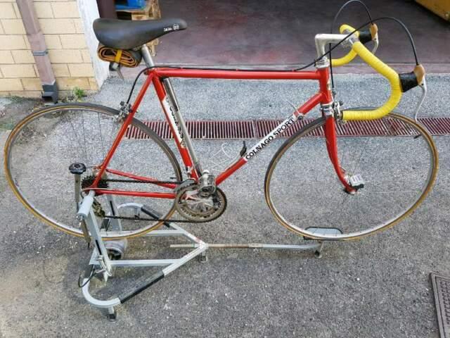 Bici Colnago Sport Originale! anni 80 cm.54 e rullo corsa,