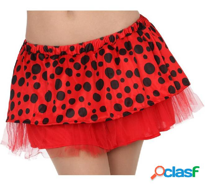 Gonna a coccinella con tulle per donna