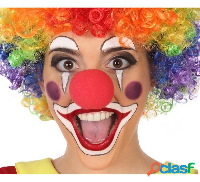Naso da clown rosso 5 cm