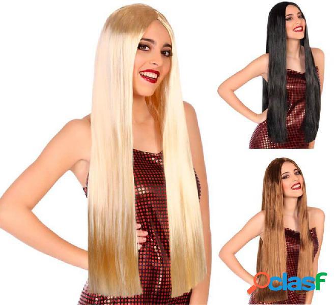 Parrucca liscia e lunga 80 cm in vari colori