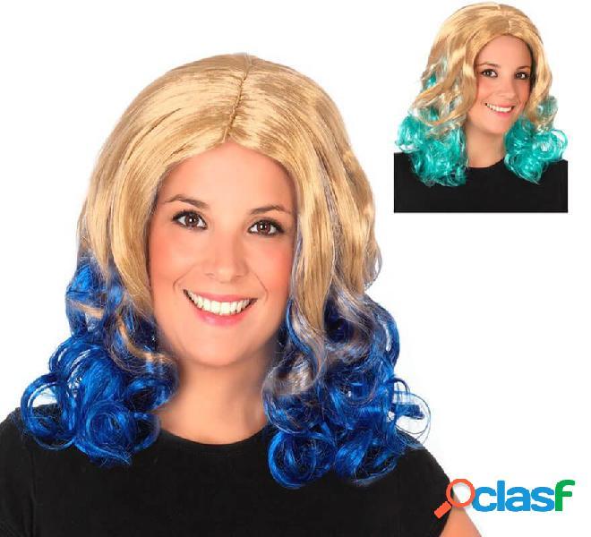 Parrucca ondulata bicolori in vari colori