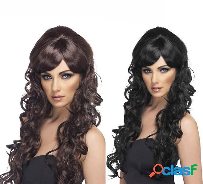 Parrucca riccia lunga in vari colori