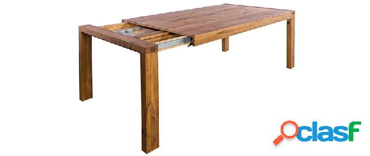 Tavolo da pranzo allungabile in massello di quercia L180-230