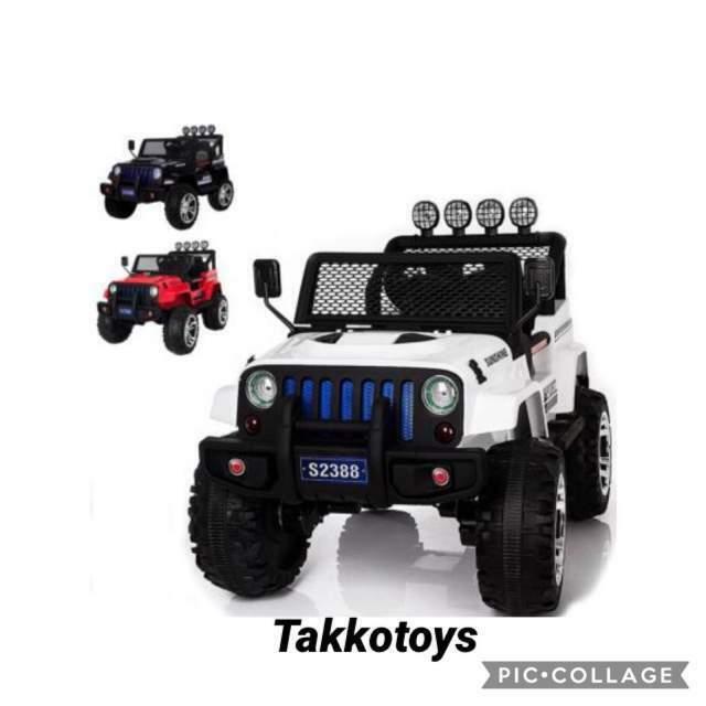 Auto macchina elettrica jeep 4 colori 4x4 2 posti