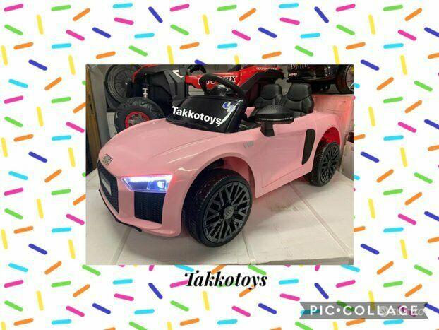 Auto macchina elettrica r8 Pink metallizzata