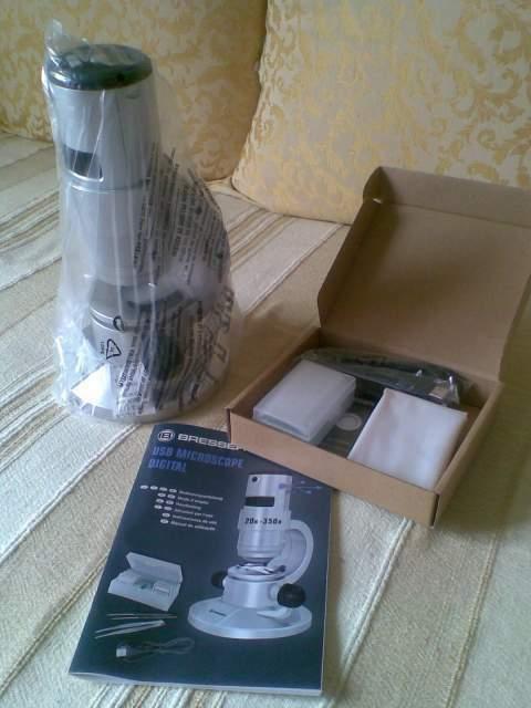 Microscopio didattico digitale USB led Bresser