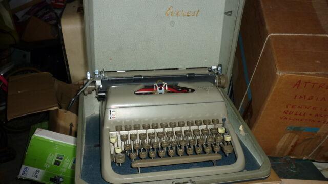 Macchina da scrivere Everest k2c con valigetta anni 60