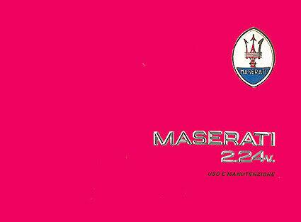 Manuale Libretto Catalogo Auto Maserati d'epoca