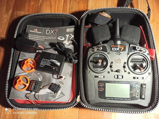 Spektrum DX 7 black edition + accessori