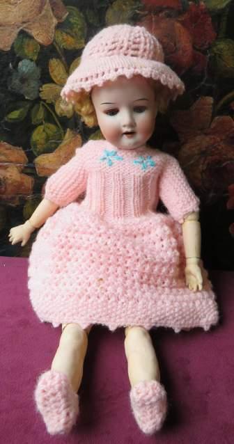 Rara antica bambola in biscuit