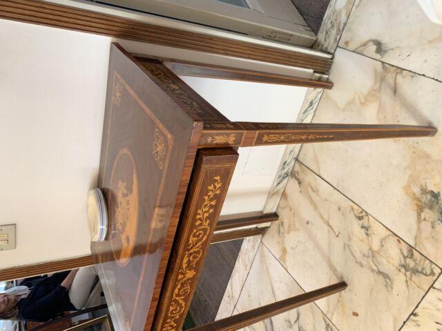 tavolino in legno massello di mogano stile impero