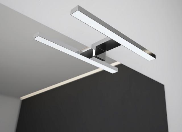 NR 2 lampade a LED 30 cm per installazione a bordo specchio