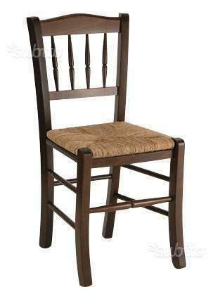 Sedie in faggio sedile paglia per ristorazione