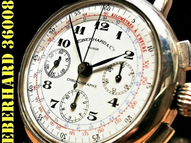 Eberhard cronografo argento 925 laminato oro