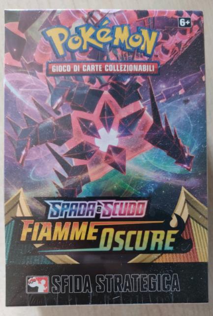Box prerelease Pokemon FIAMME OSCURE kit sfida strategica